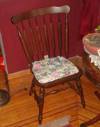 Typical Western wooden chair