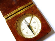 Compass in a wooden box