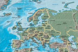 Europe at its furthest extent, reaching to the Urals.