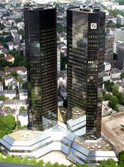 Deutsche Bank in Frankfurt, one of the major financial centres in the world.