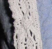 White lace is often used in collars and other fabric borders.