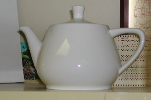 A Melitta teapot, the model of the Utah teapot